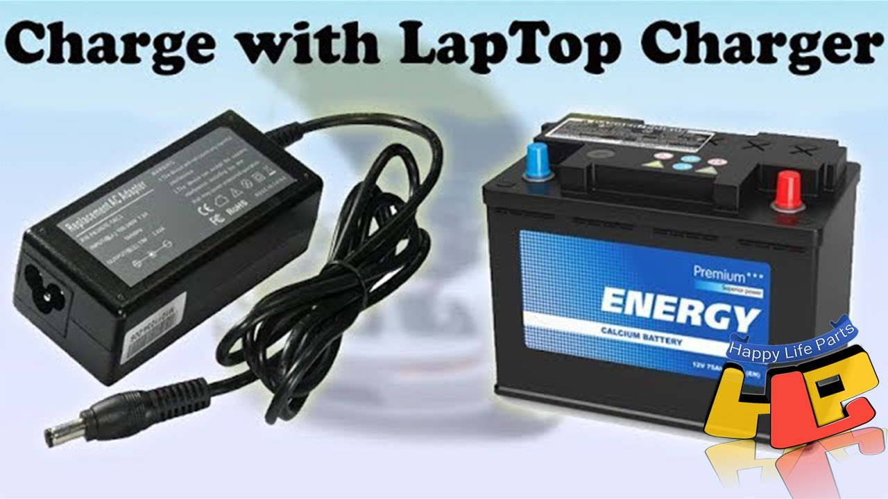 How to charge a car battery with a laptop charger